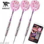 Steel Tip Darts 25g With Pink Dart Flight Dart Shaft Darts for gril lady