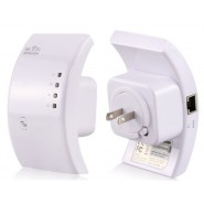 American Plug Wireless-N Wifi Repeater with WPS (White)