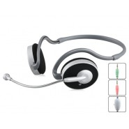 Kanen KM-310 Behind-the-Neck Style 3.5 mm Stereo Headset with Microphone, Volume Control (Black)