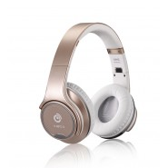 3.0 Bluetooth Wireless 2in1 Headphones with Flip Out Speakers NFC function(Gold )