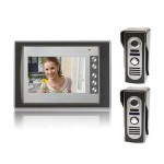 "SY803M21 7"" LCD Home Security Video Door Phone Intercom Kit 2 Cameras & 1 Monitor"